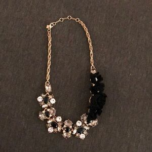 Banana Republic black crystal statement necklace